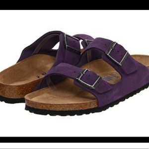 Birkenstock Arizona Purple Suede Sandals